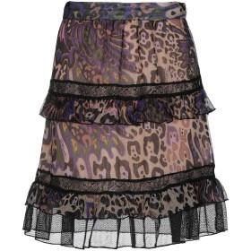 《期間限定セール開催中!》JUST CAVALLI レディース ひざ丈スカート サンド 40 シルク 85% / ポリウレタン 15% / ポリエステル / ナイロン