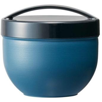 pos.353178 木目カフェ丼ランチボックス 和モダン 藍 PDN6WB