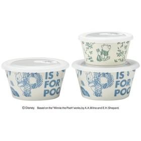 三郷陶器 ディズニー くまのプーさん リーフガーデン レンジパック3点セット(M) 3526-02