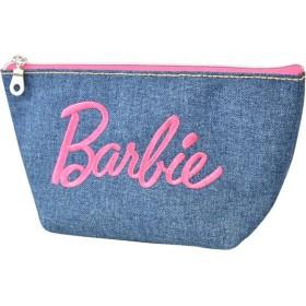 Barbie バービー デニム 刺繍 ロゴ 舟形 ポーチ