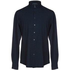 《セール開催中》CALVIN KLEIN メンズ シャツ ダークブルー 38 コットン 100%
