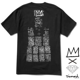 【DIAMOND SUPPLY/ダイヤモンドサプライ X BASQUIAT/バスキア】BASQUIAT SIGN TEE Tシャツ / BLACK