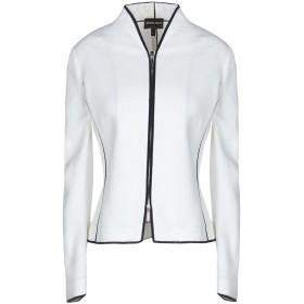 《9/20まで! 限定セール開催中》GIORGIO ARMANI レディース テーラードジャケット ホワイト 42 コットン 60% / レーヨン 34% / ナイロン 5% / ポリウレタン 1%
