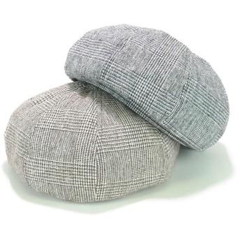 ベレー帽 - Smart Hat Factry <秋冬新作>8パネルグレンチェックベレー レディース 帽子