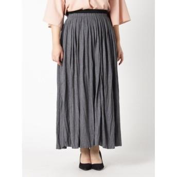 【大きいサイズレディース】【L-5L】ゆったりサイズ!カットソーマキシスカート スカート ロングスカート