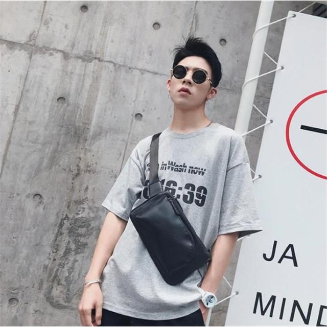 6a42417502ae 2018新品 韓国ファッション メンズ レディース ウエスト ポーチ ボディバッグ バックパック