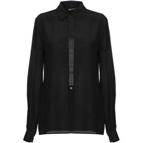《セール開催中》ROBERTO CAVALLI レディース シャツ ブラック 38 シルク 100%