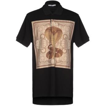 《9/20まで! 限定セール開催中》GIVENCHY メンズ ポロシャツ ブラック XS 100% コットン シルク