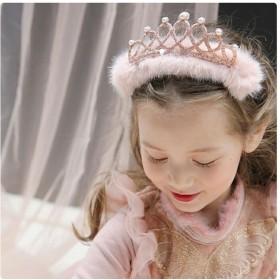 カチューシャ - ZAKZAK ヘア アクセサリー キッズ 子供 カチューシャ 子ども用 女の子 フォーマル サテン 王冠 ヘアバンド ファー パール 髪飾り 結婚式 パーティー 発表会 おゆうぎ会 ウエディング かわいい おしゃれ プリンセス お姫様 ホワイト 白 ピンク