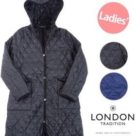 英国製 ロンドントラディション LONDON TRADITION レディース フーデッド キルティングジャケット ロングコート Quilting LONG WO-003