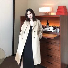 [55555SHOP] 超人気韓国chic/韓国のファッション/スリム/気質/ミディアムロング/ウインドブレーカージャケット