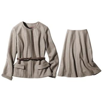 イタリア素材 ウールジャージー スーツセット(ジャケット+スカート)5/58