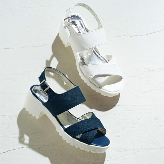 【格安-子供用靴】【28%OFF】ジュニア厚底ホワイトソールスポーティーサンダル