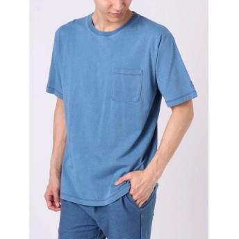【30%OFF】 コトリカ インディゴ天竺ポケット付Tシャツ メンズ ブルー S 【COTORICA.】 【セール開催中】