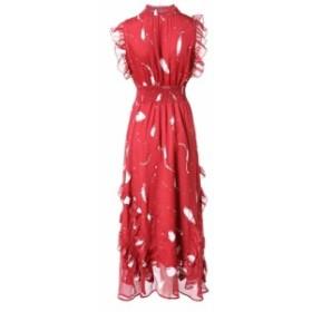 ネイビーフリルが可愛いロングフレアドレス ワンピースドレス 結婚式 ドレス お呼ばれ ワンピース 30代 20代 ブライズメイドドレス マキ