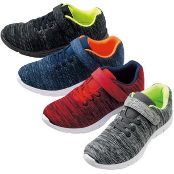【格安-子供用靴】(JOG軽)キッズ&ジュニア超軽量ニット素材スポーツスニーカー