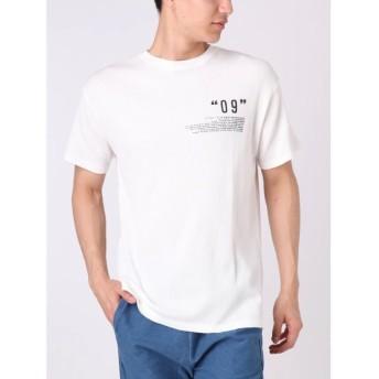 コトリカ ワッフルピグメント09プリントTシャツ メンズ オフホワイト M 【COTORICA.】