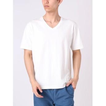 【53%OFF】 コトリカ ピグメントVネックTシャツ メンズ オフホワイト M 【COTORICA.】 【セール開催中】