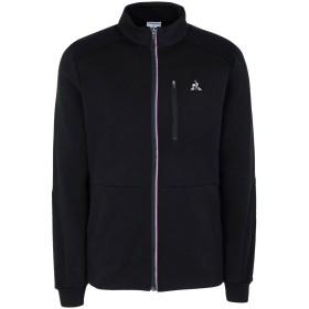 《期間限定セール中》LE COQ SPORTIF メンズ スウェットシャツ ブラック M コットン 85% / ポリエステル 15%
