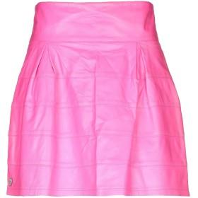 《期間限定セール開催中!》PHILIPP PLEIN レディース ミニスカート フューシャ M 羊革(ラムスキン) 100%