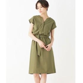 index / インデックス 【洗える】ベルト付きシャツドッキングワンピース