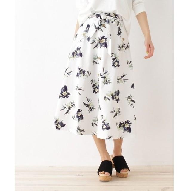 OZOC / オゾック 花柄フレアスカート