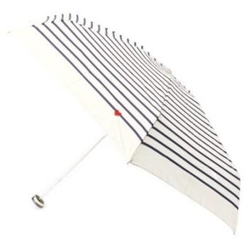 passage mignon / パサージュ ミニョン ◆【UVカット80%・晴雨兼用】ハート刺繍ボーダー折り畳み傘