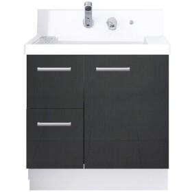 LIXIL 洗面台 K1H4−755SY/YD2H ウェンゲチャコール 一般地用