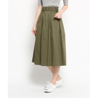 Dessin / デッサン 【洗える】【ウエストゴム】コットンリヨセルツイルスカート