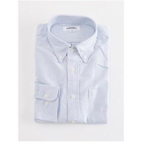 ロンドンストライプ オックスフォード ボタンダウンシャツ(ブルー)【TEIJIN MEN'S SHOP】