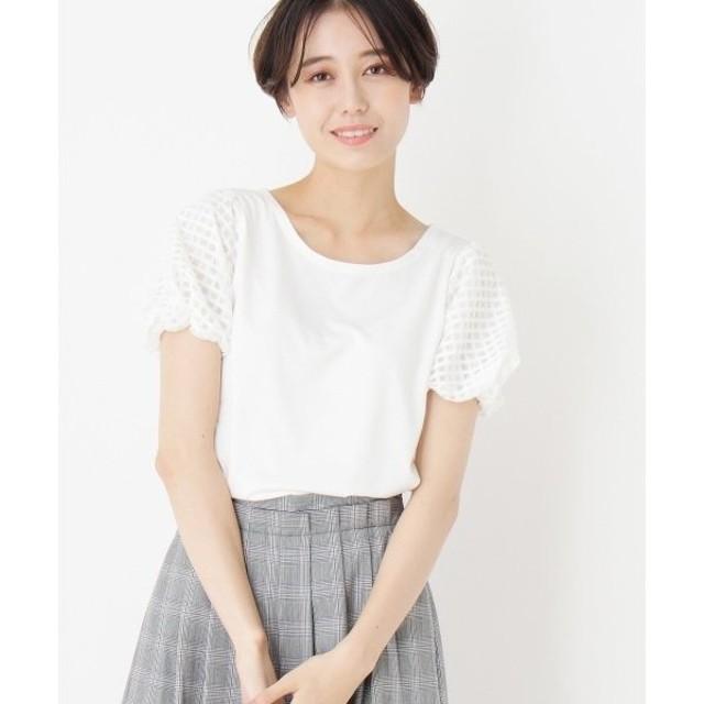index / インデックス ◆【洗える】シアーチェック柄プルオーバー