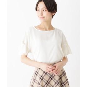 index / インデックス 【洗濯機洗いOK】袖リボンブラウス
