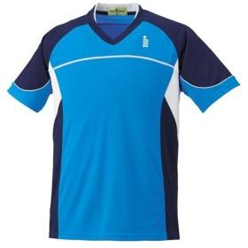 ゴーセン(GOSEN) テニス メンズ レディース ゲームシャツ オーシャンブルー T1504 10 テニスウェア バドミントンウェア 半袖 Tシャツ トップス