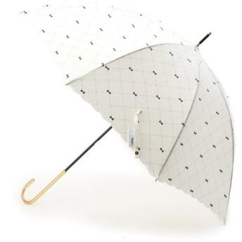 passage mignon / パサージュ ミニョン 【UVカット80%以上・雨晴兼用】クロスステッチリボン長傘