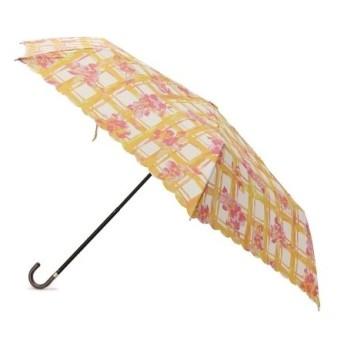 passage mignon / パサージュ ミニョン 【UVカット80%・晴雨兼用】フローラルチェック折り畳み傘