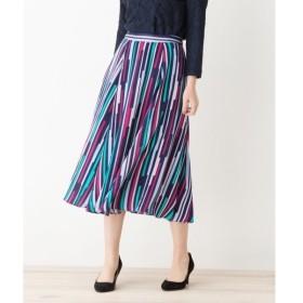 index / インデックス ◆【洗える】マルチカラー×マルチストライプ スカート