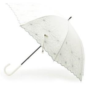 OPAQUE.CLIP / オペーク ドット クリップ 【晴雨兼用】マーガレット刺繍長傘