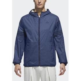 (セール)adidas(アディダス)メンズスポーツウェア ジャケット M SPORTS ID 裏ボアフルジップパーカー FAT32 DM8542 メンズ カレッジネイビー