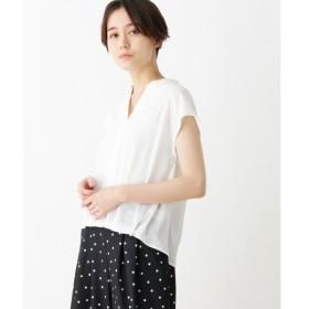 index / インデックス 【洗える】タック入りスキッパーシャツ風ブラウス