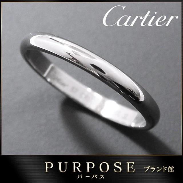 カルティエ Cartier クラシック バンド #57 リング 幅2.5mm PT950 プラチナ 指輪 【証明書付き】