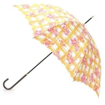 passage mignon / パサージュ ミニョン 【UVカット80%・晴雨兼用】フローラルチェック長傘