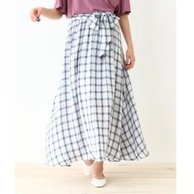 OZOC / オゾック 【洗える】タータンチェック柄フレアスカート