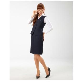 【事務服。ベストスーツ】2点セット(ベスト+スカート)(温湿度調整裏地付)(丈52cm) women's suits