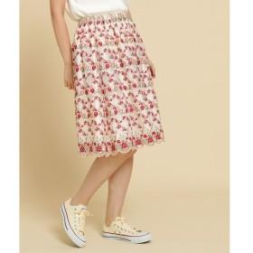 Bon mercerie / ボン メルスリー フラワーチュール刺しゅうスカート