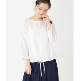 pink adobe / ピンクアドベ ラメドビーボーダーシャツ