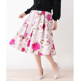 index / インデックス ◆【洗える】グログラン フラワープリントスカート