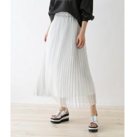 OZOC / オゾック シャイニープリーツスカート