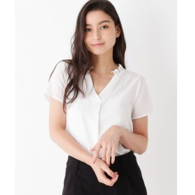 index / インデックス 【洗える】ピーチ フリルネックシャツ