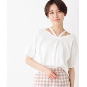 index / インデックス 【洗える】ストラップネックニット