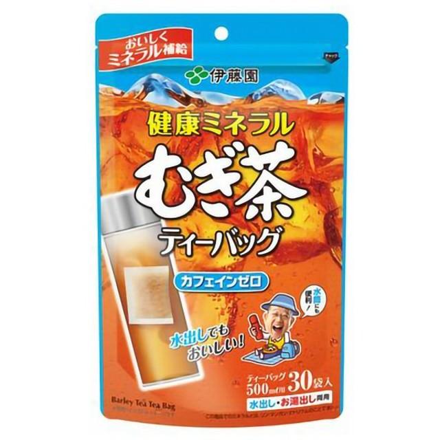 伊藤園 スポーツドリンク 健康ミネラルむぎ茶 ティーバッグ30袋 196885